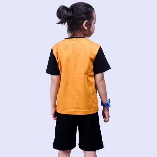 Setelan Anak Laki Laki Black Yellow Varsity
