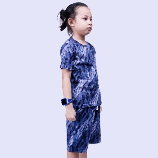 Setelan Kaos Anak Laki Laki Tie Dye Navy Line