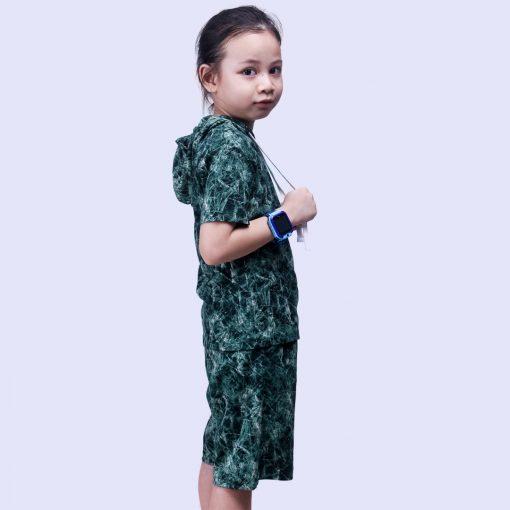 Setelan Hoodie Anak Laki Laki Tie Dye Green Crumple