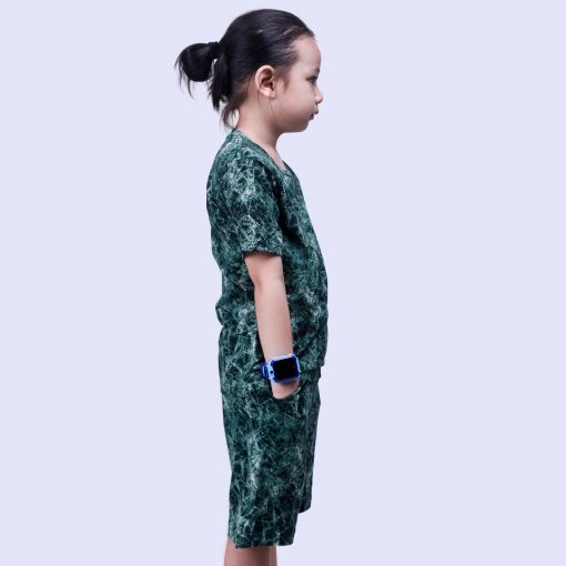 Setelan Kaos Anak Laki Laki Tie Dye Green Crumple