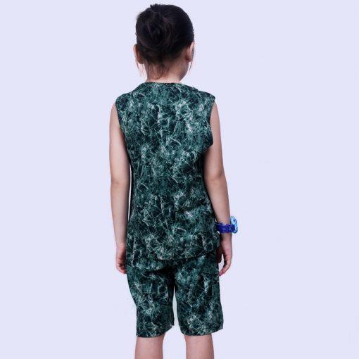 Setelan Singlet Anak Laki Laki Tie Dye Green Crumple