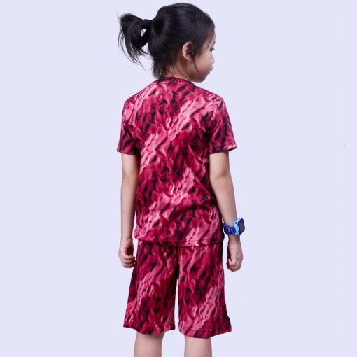 Setelan Kaos Anak Laki Laki Tie Dye Red Line